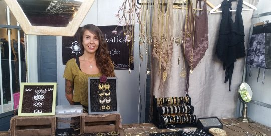 Selvatika Adornments at Portobello Green Market. Meet the traders