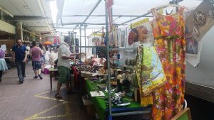 Antique Stalls at the Portobello Green fashion Market Saturday
