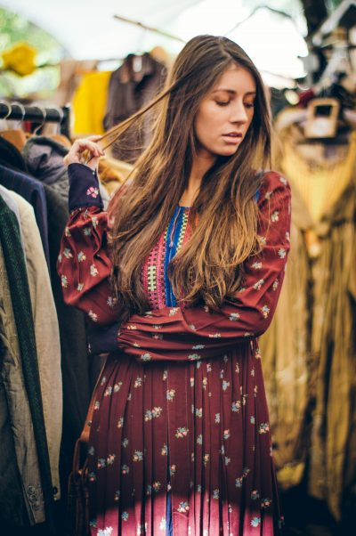 1970's Indian Boho Dress with antique textile front (handworked) from @portobelloeye