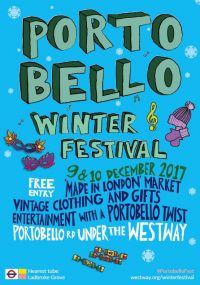 Portobello Winter Festival Dec 9 & 10 2017. Festive shopping, food & entertainment