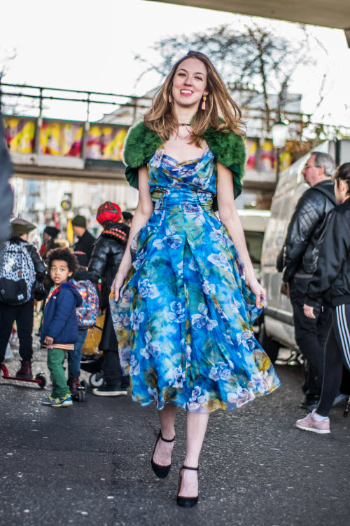 Photo Shoot on Portobello Road Spring 2018 Trends at Portobello Green Market