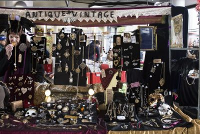 Antique costumer jewellery at Portobello Market
